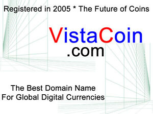 VistaCoin.com  !!!   Premium Digital Coin Domain Name
