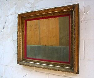 Vintage Large Ornate Gold Wood Framed Wall Mirror Statement Piece 32 x 29 $175.00