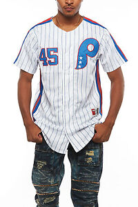 Mens Short Sleeve Varsity Baseball Team Jersey Button Down Shirts T783