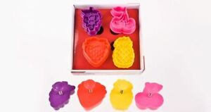 NEW D.LINE 3D FRUIT COOKIE CUTTER SET CREATE CUTE COOKIES KITCHENWARE GADGETS