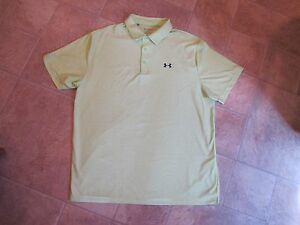 SHARP! MENS UNDER ARMOUR HEAT GEAR LOOSE FIT SHORT SLEEVE POLO TOP~SIZE 2XL~NEW!