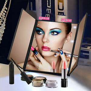 22 LED Lights Vanity Makeup Mirror Touch Screen Lighted Tabletop Cosmetic Mirror $15.97