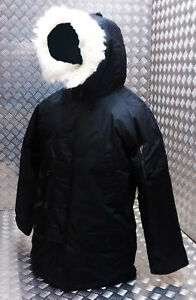 US N3B Military Style ECW Snorkel Parka Black MODScooterBikers - All Sizes NEW