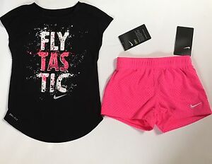 NWT NIKE 4T TODDLER GIRL 4T SET Dry Fit shirt & SHORTS summer