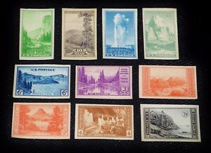 Scott Stamps 756 765 MNG National Parks