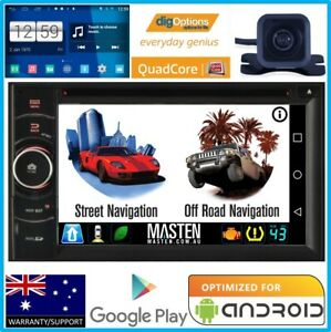 -Double 2DIN Universal GPS Car Navigation DVD Player Bluetooth HD Camera Stereo