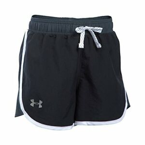 Under Armour Girls' Fast Lane ShortsBlackReflective Youth Small