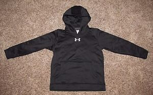 Under Armour Hoodie Sweatshirt Boy's S M L XL Black Coldgear