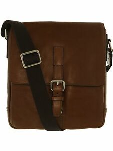 Fossil Men's Davis Ns City Leather Messenger Bag Satchel