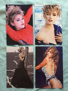 MADONNA LOT 4 VIRGIN TOUR book postcards postcard Angel Material Girl 1985 $5.50