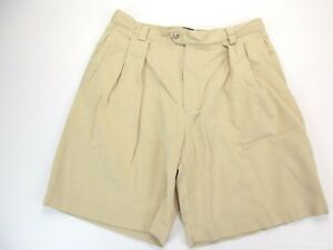 *CALLAWAY GOLF BY NORDSTROM* SIZE 34 MEN'S BEIGE FRONT PLEATED 60% COTTON SHORTS