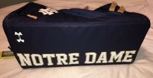 Notre Dame Team Player Under Armour Gym Bag Back pack Carry on NEW Duffel Irish