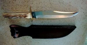 VINTAGE FIXED BLADE KNIFE & SHEATHBOWIEGERMANYSOLINGENYORK CUTLERY CO.BOWIE