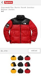 Supreme X The North Face® Leather Jacket Red XLarge FW17 Order Confirmed