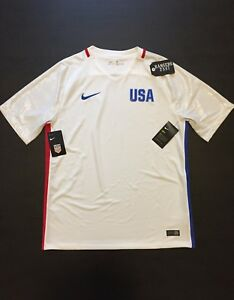 Nike Dri-Fit Official USA Olympic Team Jersey Soccer Shirt 845368-100 Size L