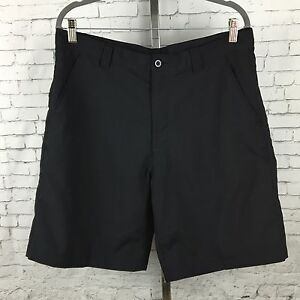 Ashworth Men's Size 34W 34 Golf Walking Casual Shorts Black Flat Front