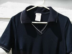 Jessie Sport Polo T Shirt Dress Navy Blue X 41 Chest Soft EUC Casual
