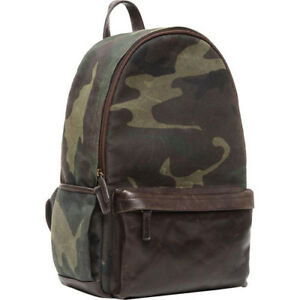 NEW ONA THE LEATHER CLIFTON CAMERA EVERYDAY BACKPACK CAMOUFLAGE DSLR 4-6 LENSES