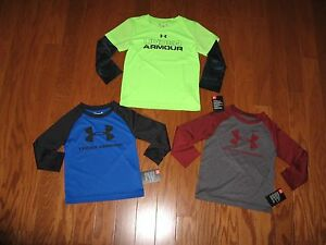 UNDER ARMOUR BOYS LONG SLEEVES WITH STRIPES 2T3T4T NWT