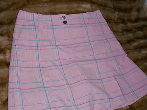 Women's Nike Golf Fit Dry Skort Pink Plaid Size   SIZE 8 M