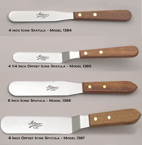 Ateco Cake Decorating ICING SPATULA Offset & Straight 4, 6, or 8