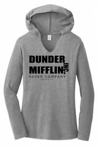 Dunder Mifflin A Paper Company Funny TV Show Ladies Hoodie Tri-Blend T-Shirt