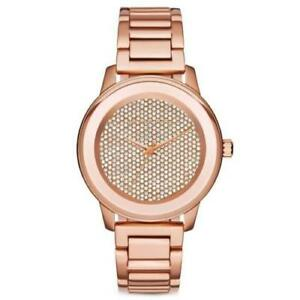 Michael Kors Women's Kinley Rose Gold-Tone Stainless Steel Bracelet Watch MK6210