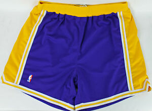 Lakers Shaquille O'Neal Game Used 1997-98 Road Nike Shorts Size 52 w Mears COA
