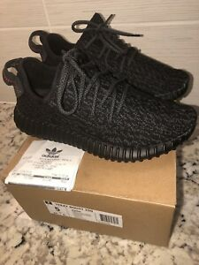 ADIDAS YEEZY BOOST 350 BOYS SHOES PIRATE BLACK SIZE 5