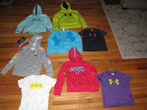 Lot 8 GIRLS UNDER ARMOUR HOODIES SWEATSHIRTS & SHIRTS YLG Youth Large 1 NWT