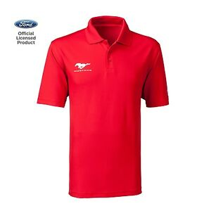 Men's Ford Mustang Under Armour Performance Polo T-Shirt Shirt Red Official