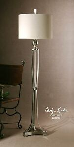 Designer Open Silver Metal Floor Lamp