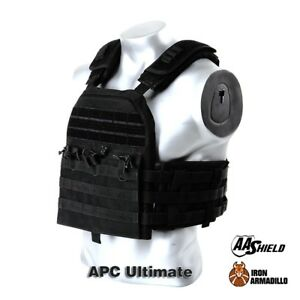 APC Armadillo Plate Carrier Ballistic Tactical Molle Gear Body Armor 10X12 Black