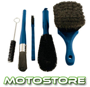 MOTORCYCLE  5 PIECE BRUSH CLEANING KIT WASH GIFT PACK VALET SET CAR CYCLE ATV