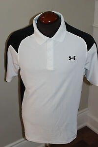 PRE-OWNED MENS UNDERARMOUR UA GOLF POLO SHIRT SIZE MD LOOSE UNDER ARMOUR