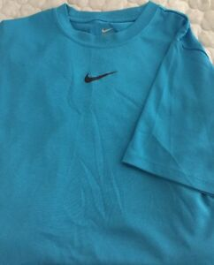 Nike Boy's Youth Blue Dry Fit Short Sleeve Athletic Shirt Large Tee T-shirt