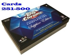 2017 Topps Chrome Sapphire Online Exclusive Singles (Pick Your Cards 251-500)