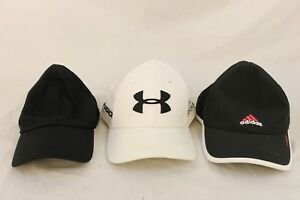 MIXED LOT ADIDAS UNDER ARMOUR NIKE Black White Baseball Golf Hat Caps