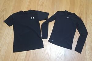 Nike Youth Black Fit Dry Compression Shirt Size Medium under armour large lot