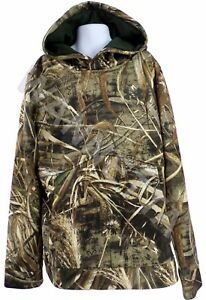 Under Armour UA Youth Camo Hoodie Fleece Lined Pullover Real Tree Xtra