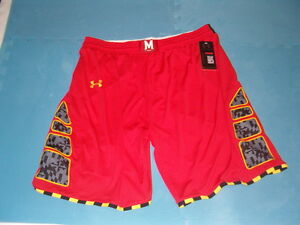 Under Armour University of Maryland Pride  basketball game shorts Size  XL