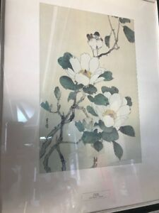 Vtg Print Magnolia by GESSO Contemporary Japanese Portal Pub Litho US 18x24