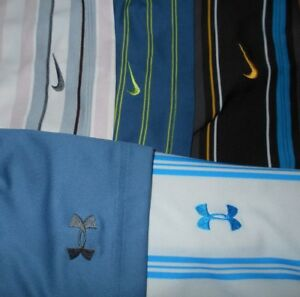 Lot 5 Nike Dri-Fit Fit-Dry Under Armour Mens Polo Shirts L Large