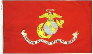 USMC UNITED STATE MARINE CORPS FLAG 3 X 5 SEMPER FI FIDELIS WITH BRASS GROMMETS