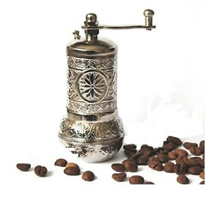 Turkish Handmade Grinder, Spice Grinder, Salt Grinder, Pepper Mill 4.4''(SILVER)