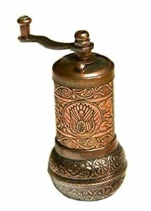 Turkish Handmade Grinder, Spice Grinder, Salt Grinder, Pepper Mill 4.4''(COPPER)