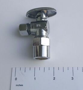 10 1 4 TURN ANGLE STOP VALVE COMPRESSION 3 8quot; OD X 1 2quot; CPVC LEAD FREE BRASS $29.99