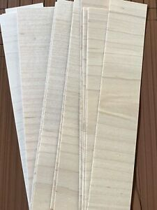 40 12quot; X 6quot; Wood Veneer 20 square feet variety pack Artist craft exotic sample
