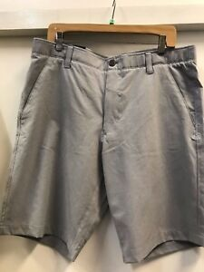 Under Armour Mens Match Play Vented shorts size 36 light gray