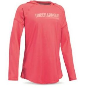 NWTs UNDER ARMOUR GIRLS SUNBLOCK HOODIE UPF 50+ GALABALLET PINK YOUTH MEDIUM